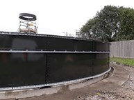 Side view of the tank from the Farnham project